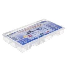 Caixa Organizadora Plástico 2,94L Incolor com Tampa 4,50x33,50x19,50cm Organizadores São Bernardo