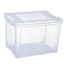 Caixa Organizadora Plástico 30L Incolor com Tampa 30,70x30,50x42,50cm Radical Color Ordene