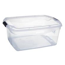 Caixa Organizadora Plástico 48L Incolor com Tampa 15,60x44,10x63,10cm Flex Sanremo
