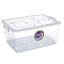 Caixa Organizadora Plástico 4L Incolor com Tampa 12,57x26,90x19,10cm Bel Ordene