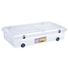 Caixa Organizadora Plástico 51L Incolor com Tampa 17x47x84cm Top Stock Sanremo