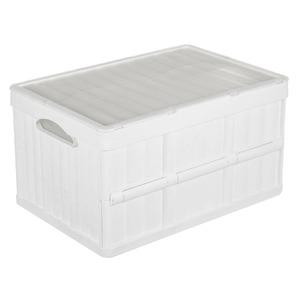 Caixa Organizadora Plástico 52L Branco com Tampa 30x36x52cm Organização Arthi