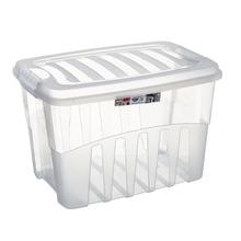 Caixa Organizadora Plástico 56L Incolor com Tampa 36,50x40,30x55,50cm Organização Plasútil