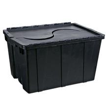 Caixa Organizadora Plástico 56L Preto com Tampa 23x57,50x39,50cm Containers São Bernardo