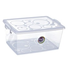 Caixa Organizadora Plástico 7,5L Incolor com Tampa 16,02x33,50x24,07cm Bel Ordene