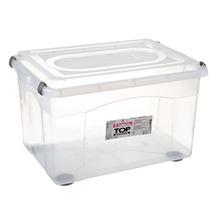 Caixa Organizadora Plástico 72L Incolor com Tampa 40x44,50x65cm Top Stock Sanremo