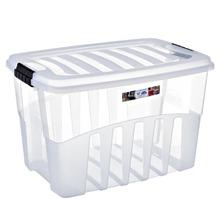 Caixa Organizadora Plástico 78L Incolor com Tampa 40,10x45,30x63,50cm Organização Plasútil