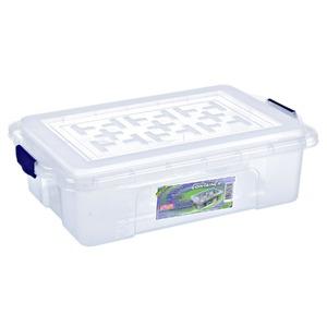 Caixa Organizadora Plástico 8,4L Incolor com Tampa 12x40x26cm Containers São Bernardo