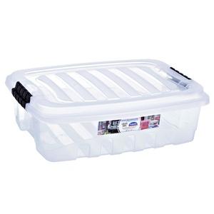 Caixa Organizadora Plástico 9,3L Incolor com Tampa 12,22x29x40,50cm Organização Plasútil