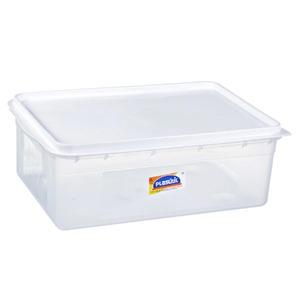 Caixa Organizadora Plástico 9L Incolor com Tampa 14x25x38,20cm Potes Plasútil