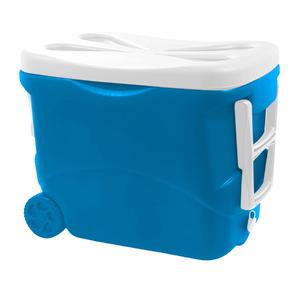 Caixa Térmica com Rodas 45L Azul Soprano