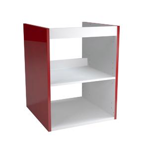 Caixaria Modular Madeira vermelho 57,7x45x46cm Remix Sensea