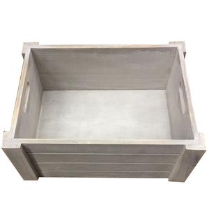 Caixote Madeira Branco 16x36x26cm Importado
