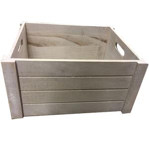 Caixote Madeira Branco 18x41x31cm Importado