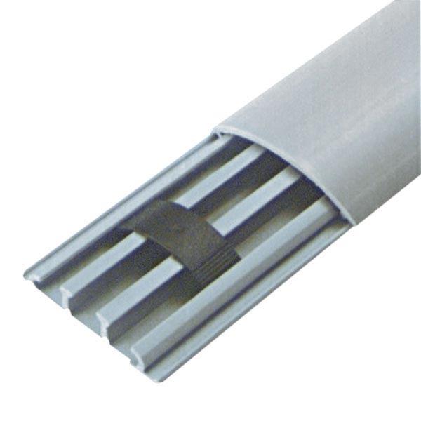Canaleta adesiva para piso 75x17mm 2metros hellermann for Canaletas de agua leroy merlin