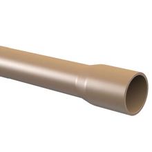 """Cano Marrom PVC 6m 75mm ou 2.1/2"""" Tigre"""