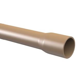 """Cano Marrom PVC 6m 85mm ou 3"""" Tigre"""