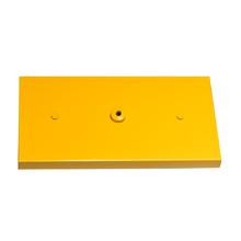 Canopla para Pendente Retangular 3 Lâmpadas Metal Amarelo
