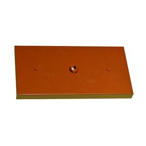 Canopla para Pendente Retangular 3 Lâmpadas Metal Cobre