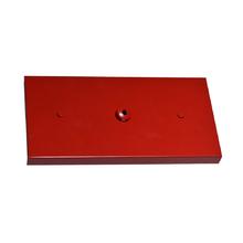 Canopla para Pendente Retangular 3 Lâmpadas Metal Vermelho