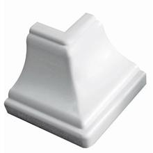 Canto Externo de Meia Cana Branco Real PVC