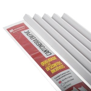 Cantoneira Parede Branca 1,9x1,9x300cm Tecnoperfil