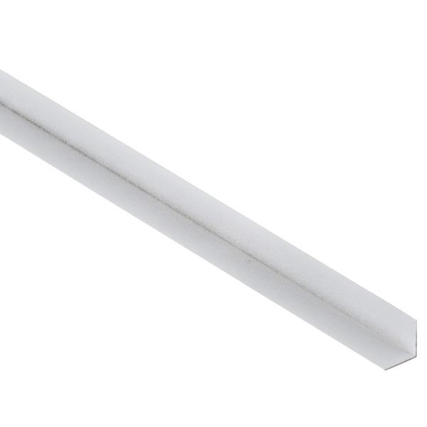 Cantoneira alum nio parede branco 1 58x1 58x300 decal for Perfil u aluminio leroy merlin