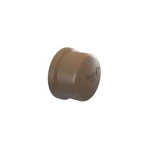 """Cap Marrom PVC 110mm ou 4"""" Tigre"""