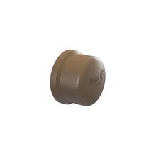 """Cap Marrom PVC 75mm ou 2.1/2"""" Tigre"""