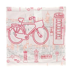 Capa de Almofada City Kids Bike 40x40cm Importado
