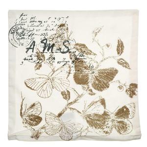 Capa de Almofada Letter Butterfly 40x40cm Cinza Importado
