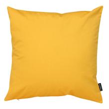Capa de Almofada Lisa Amarelo 45x45cm