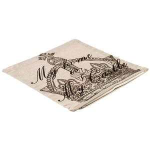 Capa de Almofada My Castle 40x40cm Cinza Importado