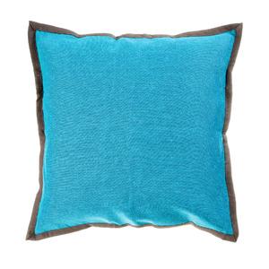 Capa de Almofada Nash Azul e Marrom 40x40cm
