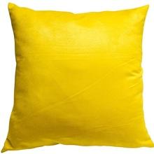 Capa de Almofada Suede Lisa Amarela 45x45cm