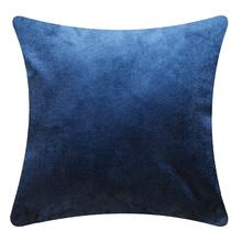 Capa de Almofada Suede Lisa Azul Cobalto 60x60cm