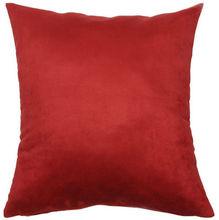 Capa de Almofada Suede Lisa Vermelha 45x45cm