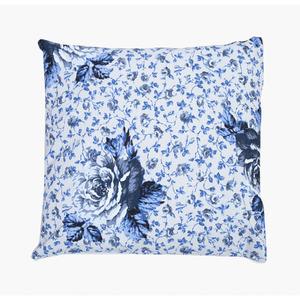 6dc0c1c546fa4e Capa para Almofada Floral Tecido de Gorgurão Impermeável Azul 45x45cm  Inspire