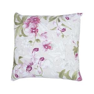 05b3fb236ae730 Capa para Almofada Floral Tecido de Gorgurão Impermeável Rosa 45x45cm  Inspire