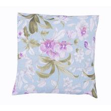 Capa para Almofada Flores Tecido de Gorgurão Impermeável Azul 45x45cm Inspire