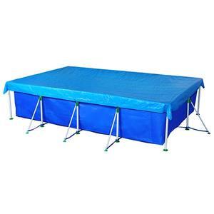 Capa Piscina 5000L Premium Azul Polietileno com Corda Poliéster 3,55x2,36m Mor