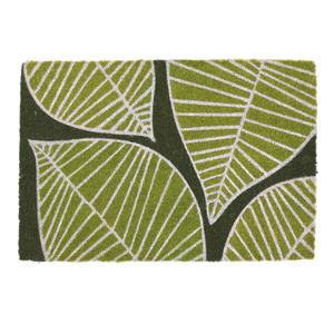Capacho Fibra de Coco Folhas Verde Verde 40x60m