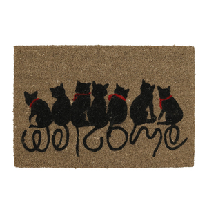 Capacho Gatinhos Welcome Natural 40x60cm
