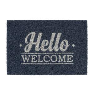 Capacho Super Print Hello Welcome Azul Marinho 60x40cm Inspire