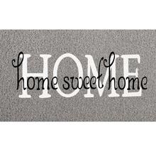 Capacho Long Home Sweet Cinza 30x70cm