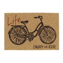 Capacho PVC Bike Life Enjoy Bege e Preto 40x60m Inspire