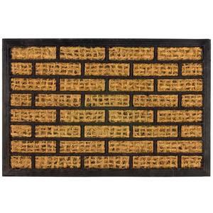 Capacho Retangular Tijolo Fibra de Coco 60x40cm Importado