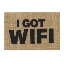 Capacho Sisal I Got WiFi Preto 40x60cm