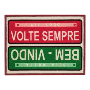 Capacho Toc Toc Placas Vermelho e Verde 0,40x0,60m