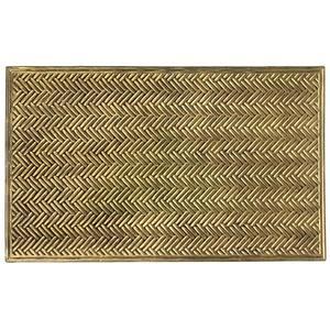 Capacho Trancado Dourado 0,45x0,75m